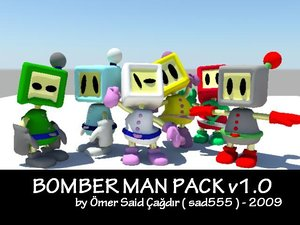 white bomberman 3d ma