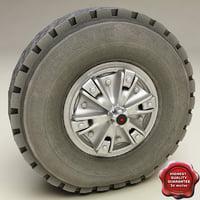 truck wheel v2 3d 3ds