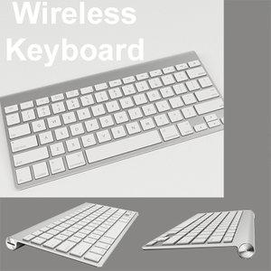 apple wireless keyboard slim 3d max