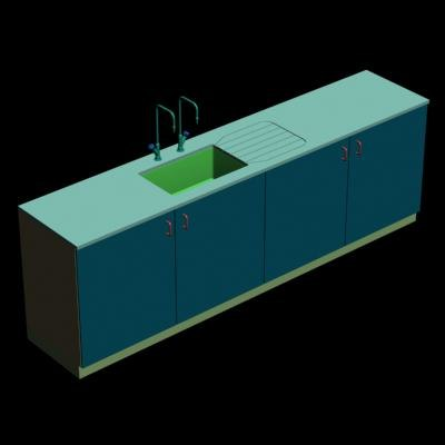 science lab bench sink 3d model