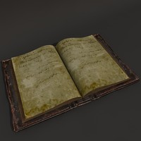 old book 3d obj