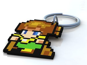 3d charm key chain finalfantasy model