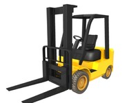 3d forklift warehouse hangar model