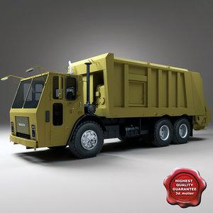 realistic garbage truck mack 3d model