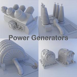 3d model of power generators