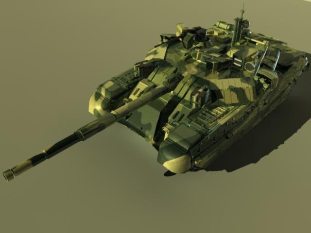 russian t-84-2 battle tank 3d ma
