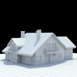 3d single-family house 1 model