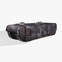 wwi tank 3d model