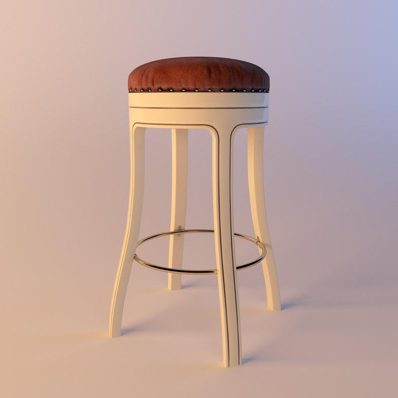 mascheroni president barstool bar stool 3d model