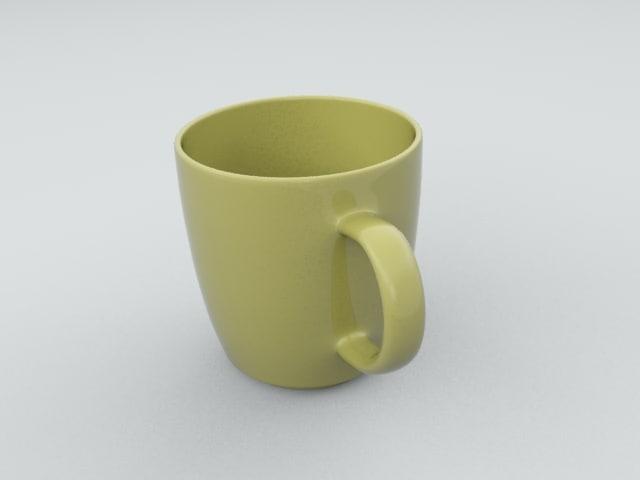 3d coffe mug model