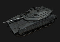 3d model merkava mk iv battle tank