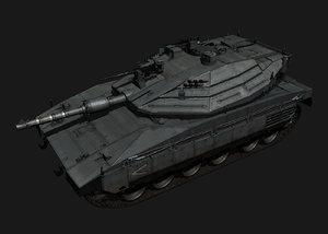 3d model merkava mk iv battle tank