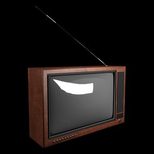 3d model old stylish tv