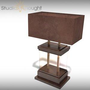 duchamp table lamp desk 3d model