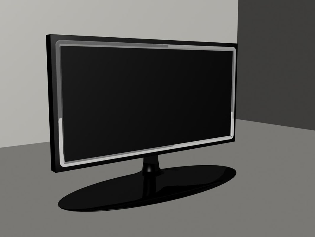 3d model of flat tv