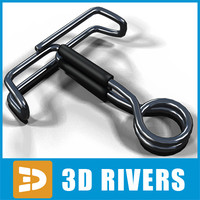 3d pinch clamp model