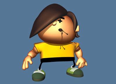 3d model cartoon guy