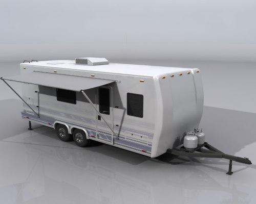 3d travel trailer camper