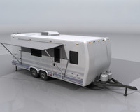 Travel Trailer Camper 3d model