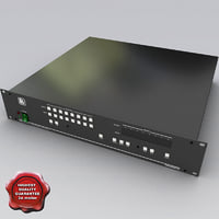 s-video balanced matrix switcher 3d model