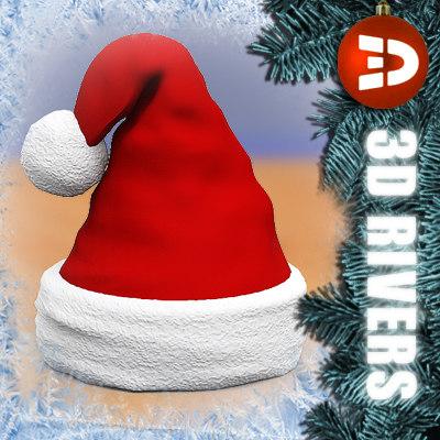 santa hat 3d 3ds