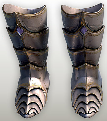 3d fantasy armored boots model