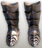Fantasy knight armored boots