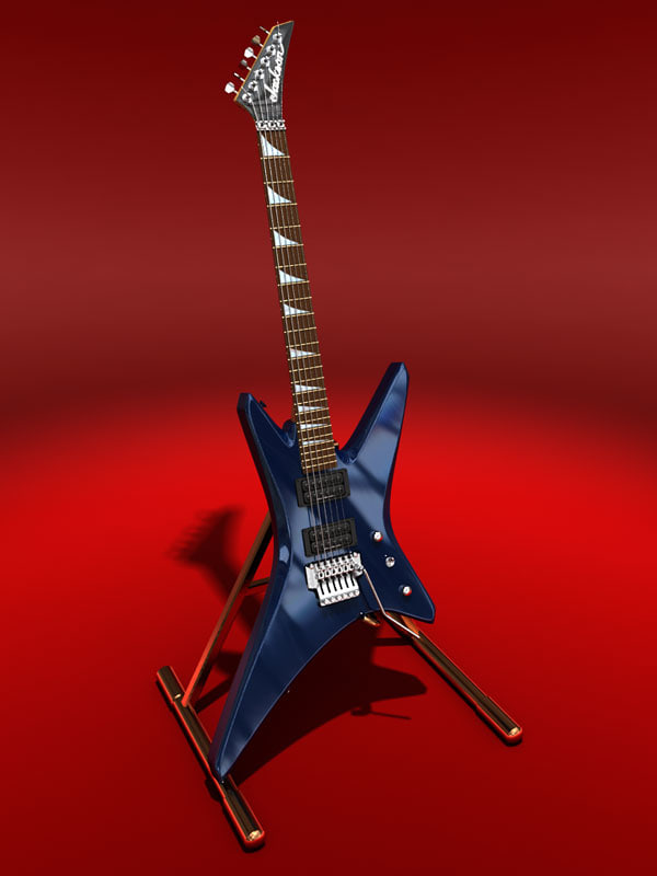 jackson warrior xt guitar 3d max