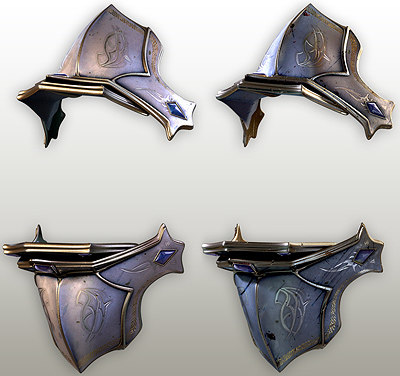 fantasy shoulder armor subdivision 3d model