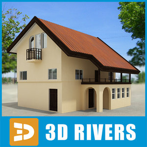 small town house building 3ds