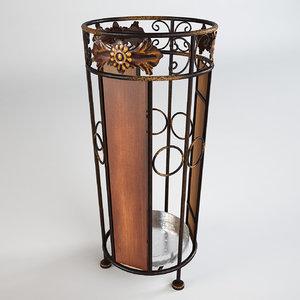 ornamented umbrella holder 3ds