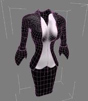 3dsmax professional cloth woman