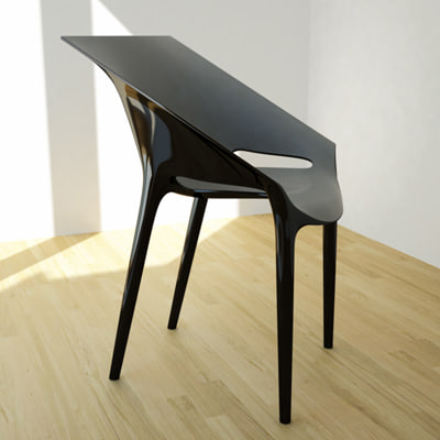 3d model of dr yes kartell chair