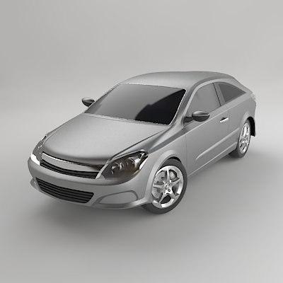 3d standar car model
