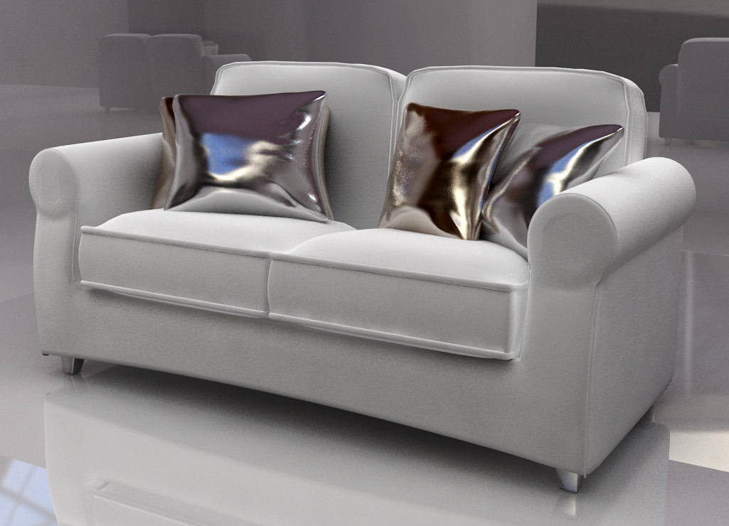 sofa chairs furniture 3d model