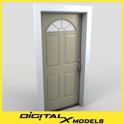 residential entry door 10 obj