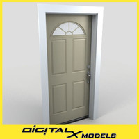 residential entry door 10 obj