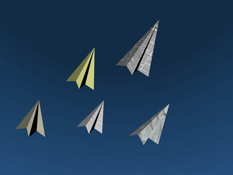 free paper airplane 3d model