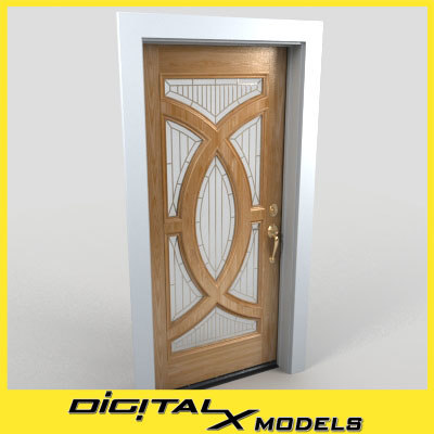 3d residential entry door 20 model