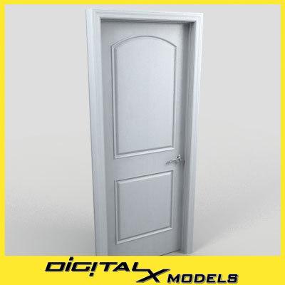 3d obj residential interior door 01