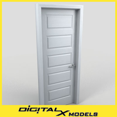 residential interior door 05 3d obj
