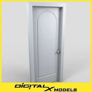 residential interior door 17 3d model