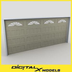 residential garage door 02 3d max