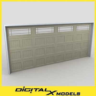 3d residential garage door 04 model