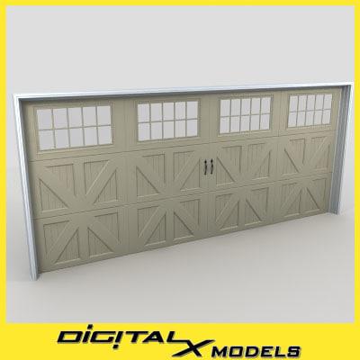 3dsmax residential garage door 07