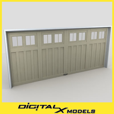 3d model residential garage door 14
