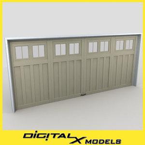 3d model residential garage door 14
