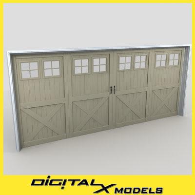 3d model residential garage door 18