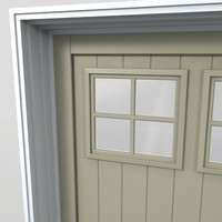 3d model residential garage door 18