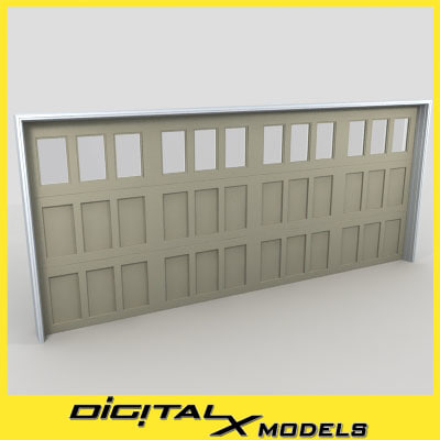 residential garage door 21 3d 3ds